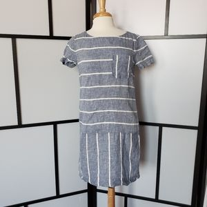 Lou & Grey Loft linen striped dress